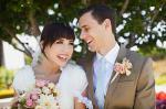 Неповторимый букет для невесты из роз с красными лепестками